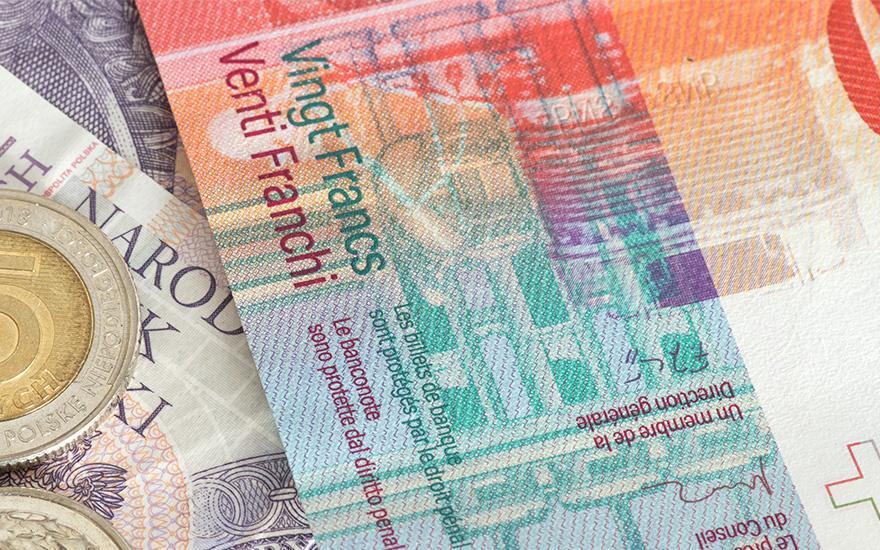 Waluta polska iszwajcarska